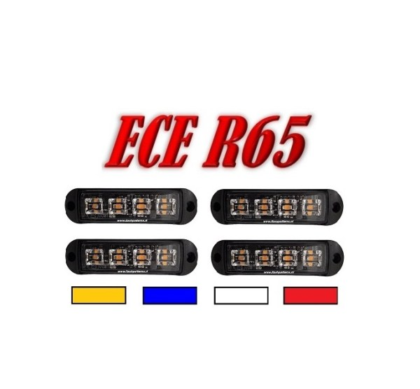 C4 COBRA LED GRILL LIGHT 4 STUKS ECER65 Hoog Intensiteit leds – SUPER AANBIEDING !! 4 STUKS