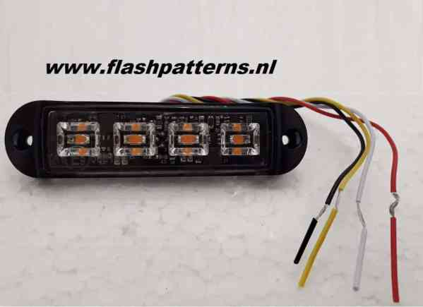Cobra 4 Amber ECER65 led flitser wires