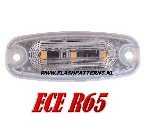 ECO-R3 Led flitser ECER65 12-24V Super plat Aanbieding Blauw of Amber CAT PICK NEW