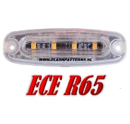ECO-R4 Led flitser ECER65 12-24V Super Plat Aanbieding ! in Blauw of Amber CAT PICK NEW