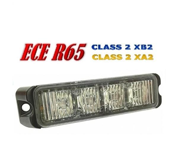 T4 LED Grill Flitser ECER65 Klasse 2 Super Fel 12/24V Professionele Kwaliteit en Super Fel