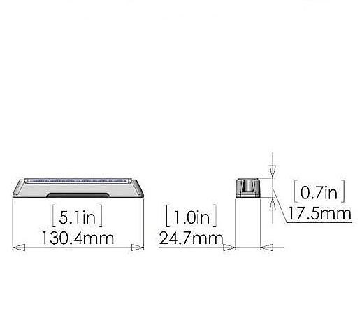 T6-Pro-Amber-ECER65 EMC-afmetingen-flashpatterns.nl