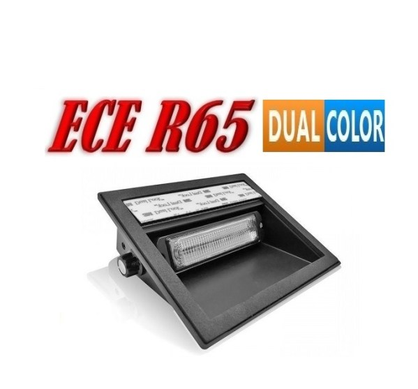 Pro R12 LED Dash Flitser Dual Colour ECER65 12/24V 12 x 5 Watt