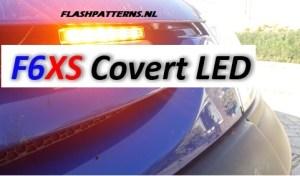 F6XS LED FLITSER FLASHPATTERNS AMBER AAN