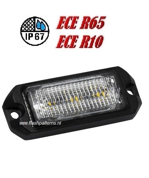 R3 3x5w Led Flitser ECER65 HOOG INTENSITEIT LEDS amber sku1061