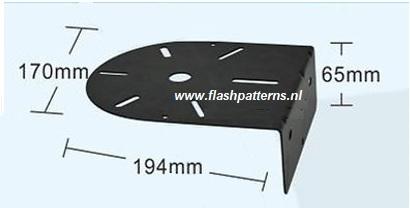 zwaailamp L beugel flashpatterns.nl