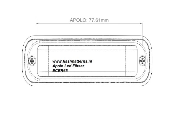 Apolo Led Flitser afmetingen