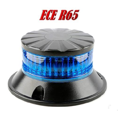 ZL-XB LED Zwaailamp Blauw ECER65 12/24V Vast montage
