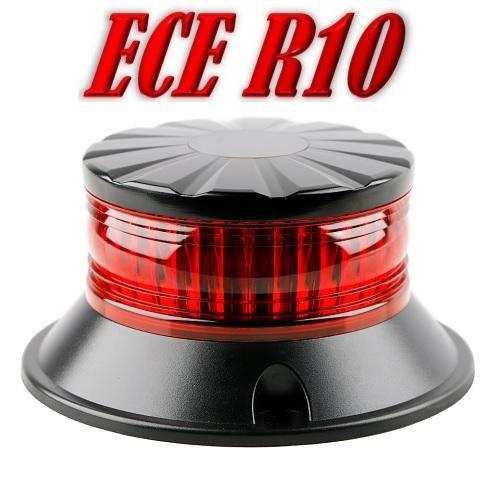 ZL-XR LED Zwaailamp Rood ECER10 12/24V Vast Montage