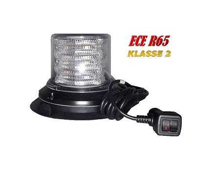 HYBRIDE LED ZWAAILAMP ECE-R65 KLASSE 2 12-24V WITH CLEAR LENS
