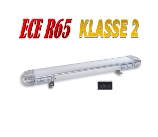 Hybride SE LED Lightbar R65 Class II Certified estandaard plus CLEAR with 3 button coltrolbox