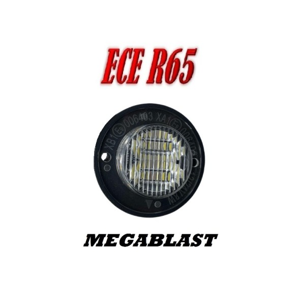 MEGABLAST LED Flitser ECER65 SUPER FEL 12/24V.