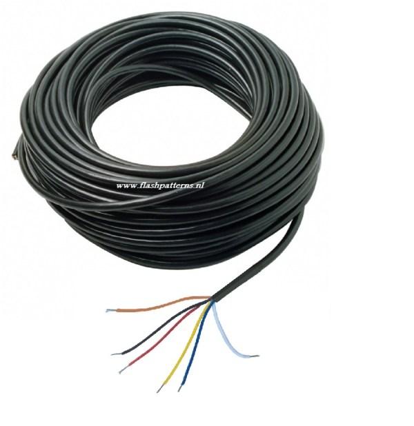 Led flitser kabel 6 aderig