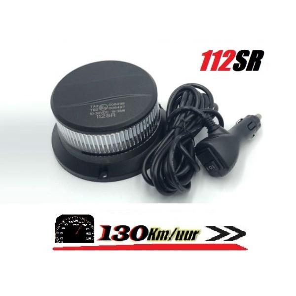 112SR 130 km uur magneet mont helder lens super fel led zwaailamp
