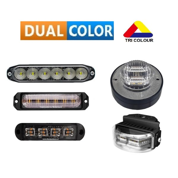 LED FLITSER / GRILLE / SURFACE MOUNTS DUAL COLOUR (2 kleur) / TRI COLOUR (3 Kleur)