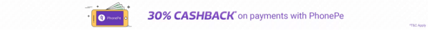Flipkart Big 10 Sale (14-18 May)   30% Cashback on PhonePe Payments