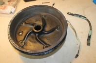 tambour de frein nettoyé