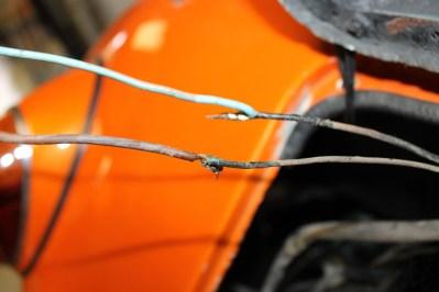 fils pression d'huile et alimentation moteur