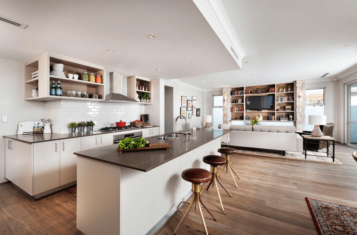 Arredamenti Moderni Immagini guida all'arredamento open space moderno - flat design