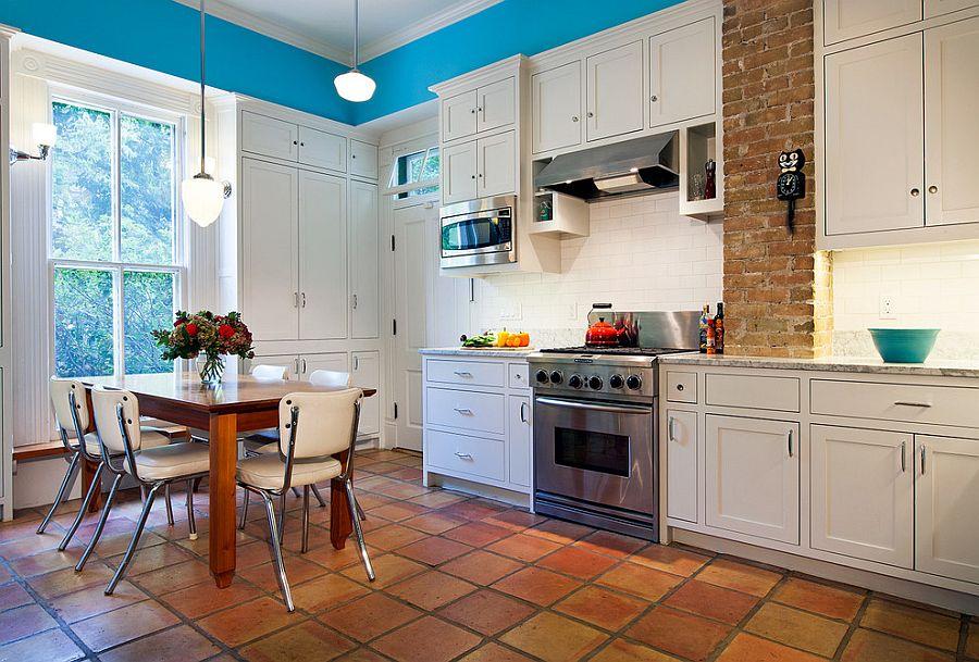Quale arredamento scegliere col pavimento in cotto flat design