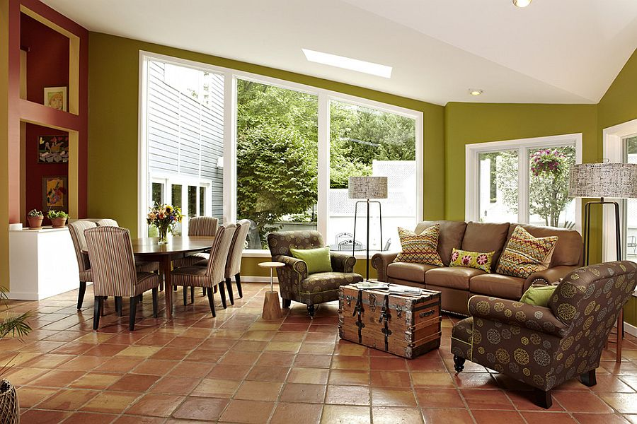 Camera Da Letto Rustica Moderna : Quale arredamento scegliere col pavimento in cotto flat design