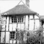 black and white photo of Valley Farm -south facing service wing repaired in 1991