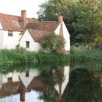 photo of Willy Lott's House and the millpond today in summer time