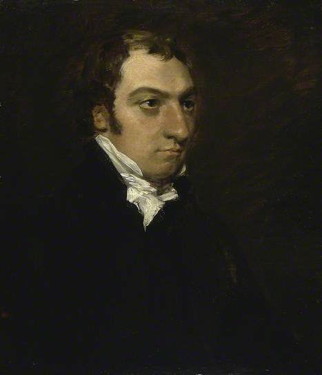 Painting of Bishop of Salisbury John Fisher by John Constable 1816 - Fitzwilliam Museum