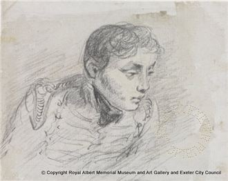 Sketch of Captain Charles Golding Constable