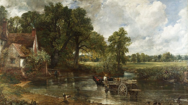 Oil painting of The Haywain by John Constable 1832 - National Gallery