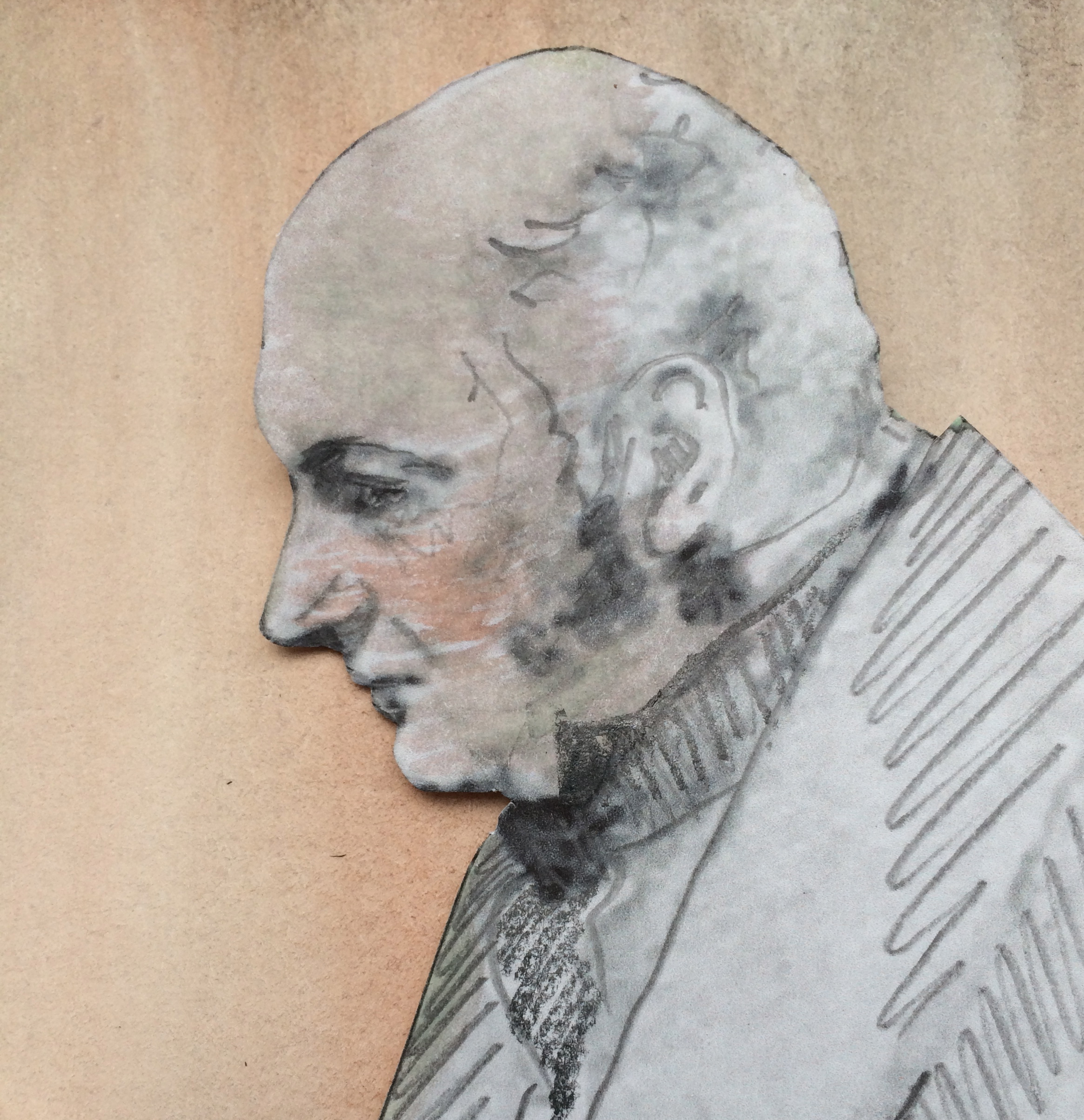 painting of John Constable as an old man by Ruth Richmond (2015) after Daniel Maclisse