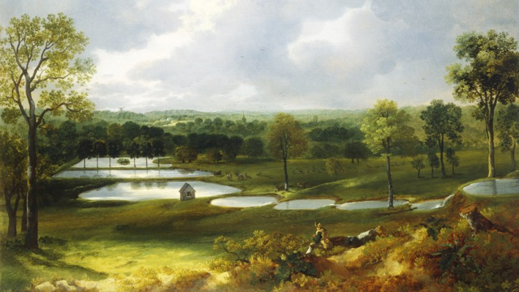 Painting of Holywells Park by Thomas Gainsborough 1748-50 - Colchester & Ipswich Museum Service