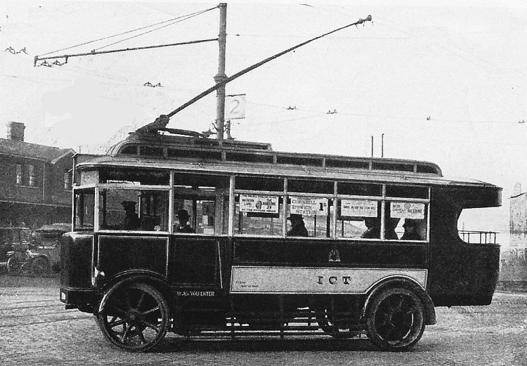 Trolley Bus C 1925 Ipswich Station