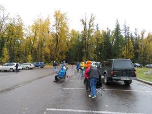 Looking for migrating Golden Eagles in the rain - Photo Credit: Steve Gniadek