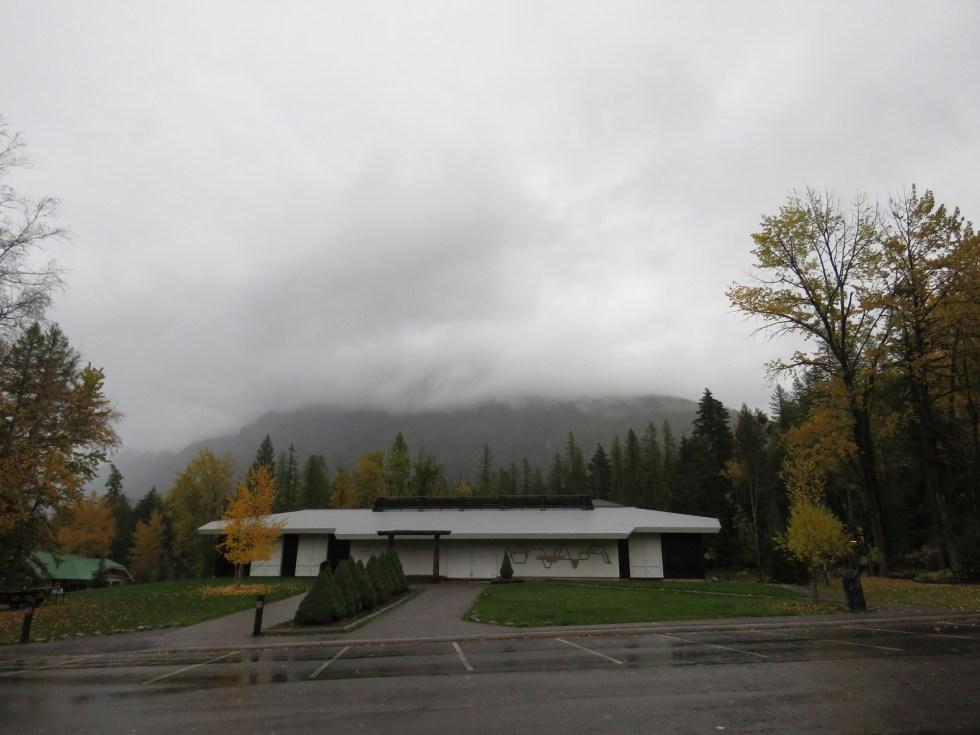 The clouded view of Mt. Brown - Photo Credit: Steve Gniadek