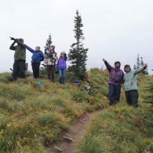 The intrepid field trip group spotting hawks - Photo Credit: Cory Davis