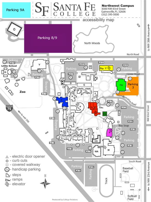Santa Fe College Campus Map Campus Map   FTC
