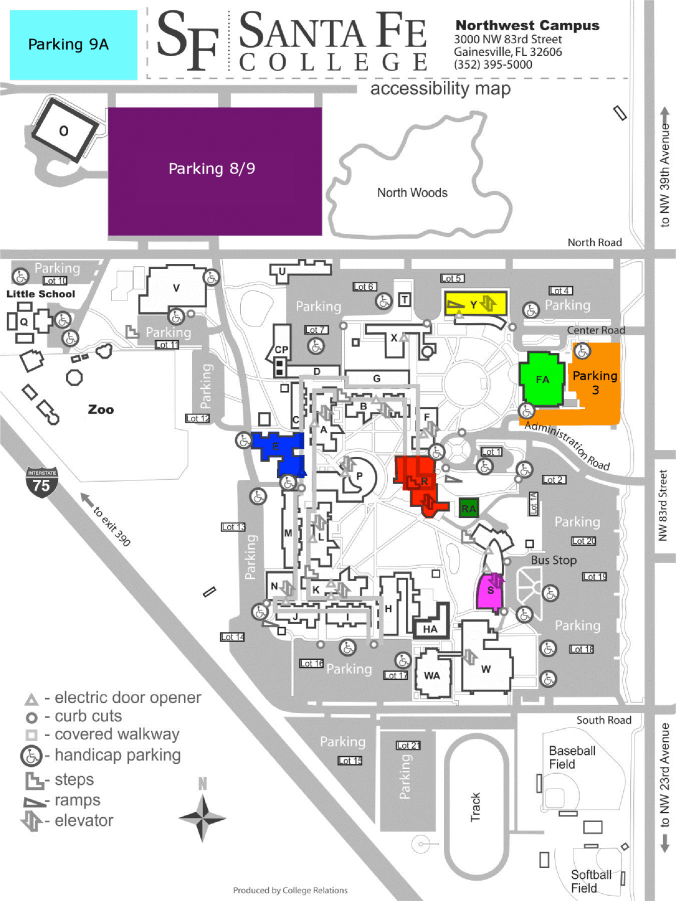santa fe community college campus map Campus Map Florida Theatre Conference