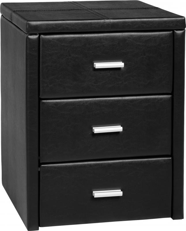 Prado Bedside Table Black Bedside Tables
