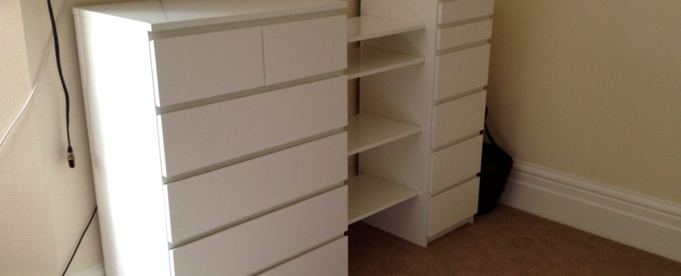 IKEA Malm drawers & Besta shelf hack by Flat Pack Dan