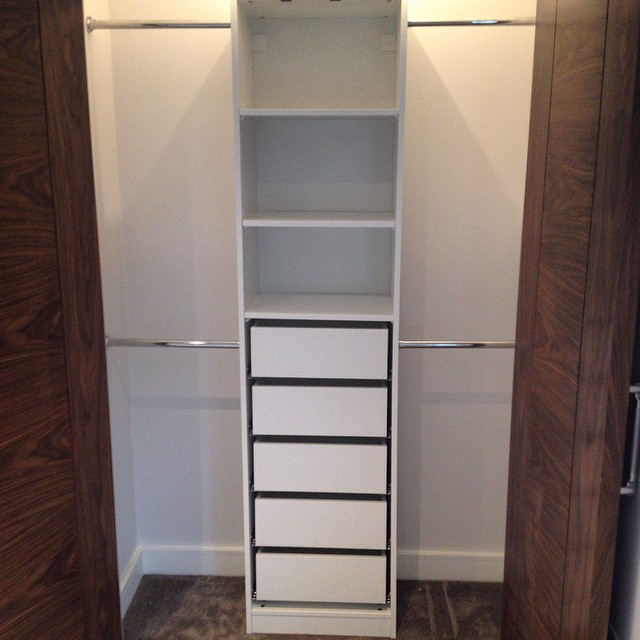 Fitted #ikea #pax #wardrobe. Installed into an internal bedroom cupboard. Nice #ikeahack