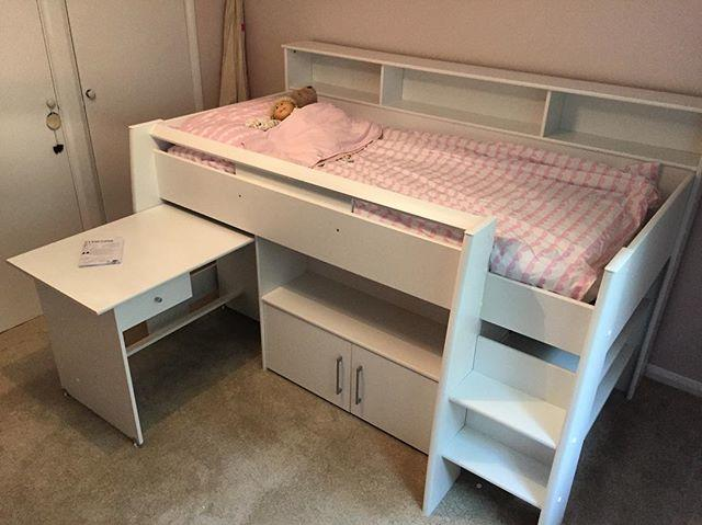 Mid Sleeper Bed With Desk Assembly Steyning Flat Pack