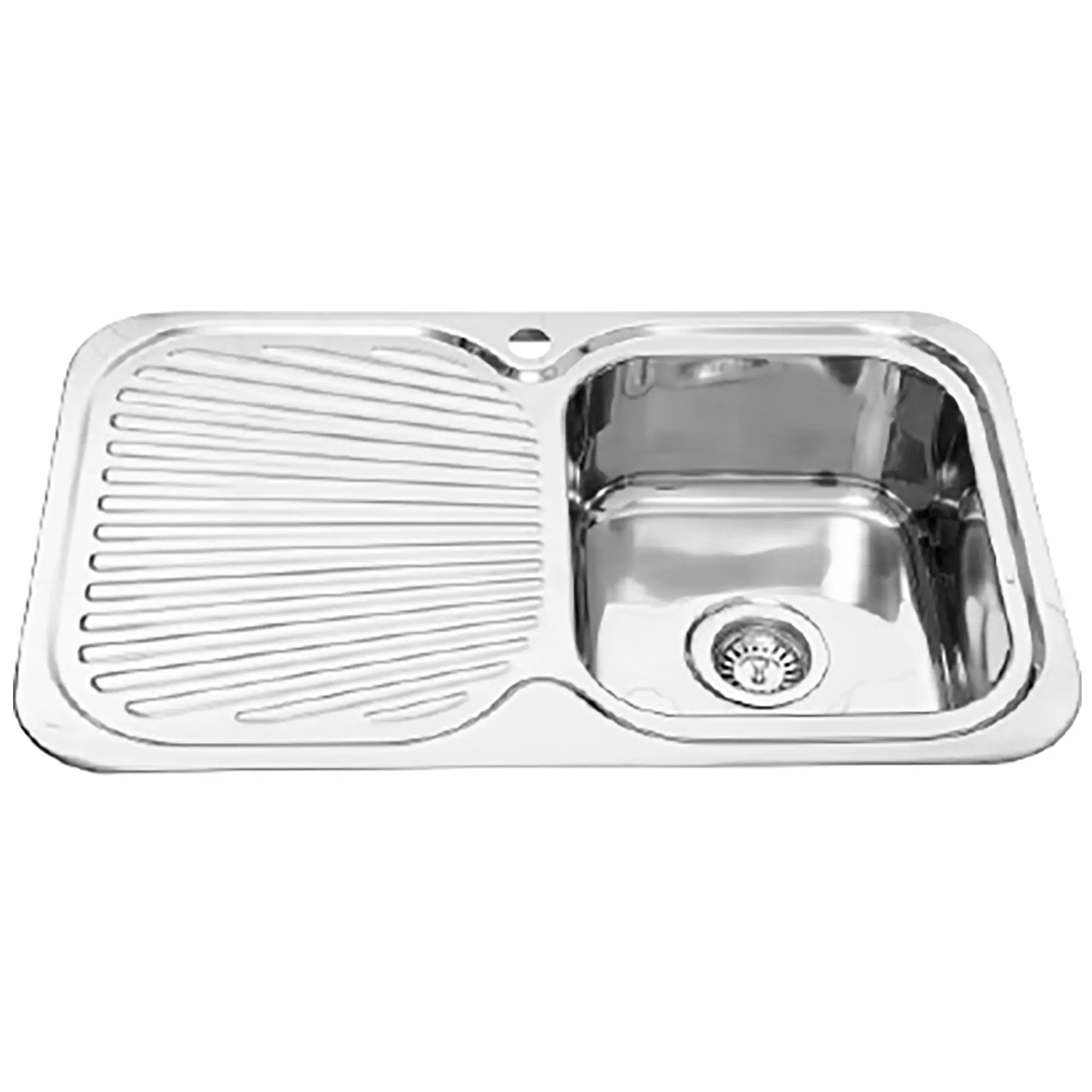 Furnware Dorset Veronar Matrix Right Hand Single Bowl Single Drain Sink S100 Rh Ss