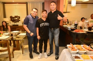 Francis with Councilor Gel and Jhong Hilario
