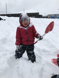 Noah enjoying the snow
