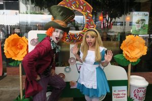 Even the Mad Hatter and Alice came to play