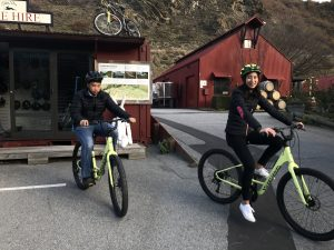 Bike Rentals are available at Gibbston Valley Winery