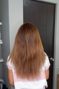 This was my hair before Keratin Complex treatment.