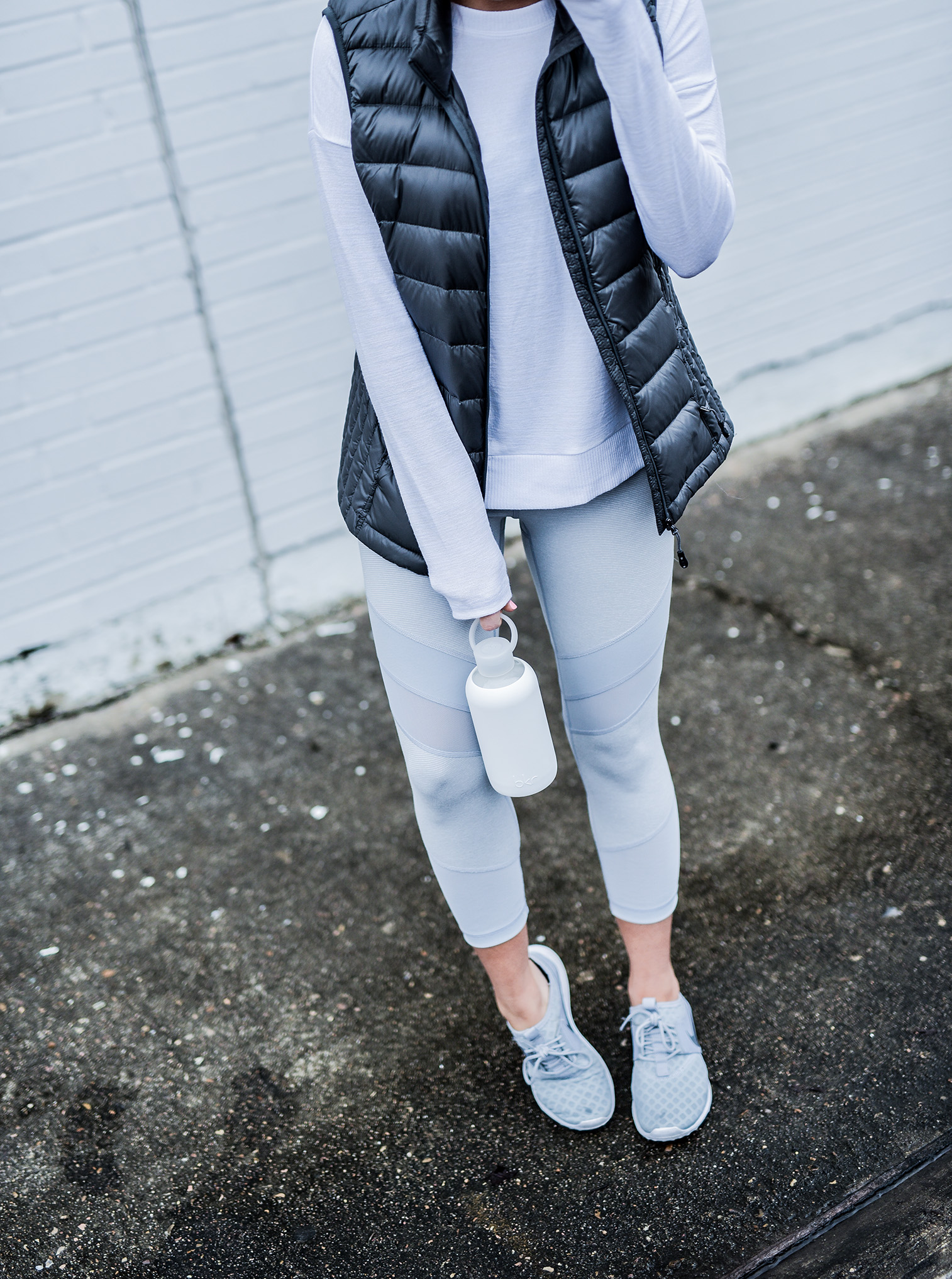 Houston fashion and lifestyle blogger Tiffany Jais of Flaunt and Center doing an instagram roundup featuring nordstrom leggings in grey, and a grey puffer vest. Click here to read more! | style, what's trending in women's fashion
