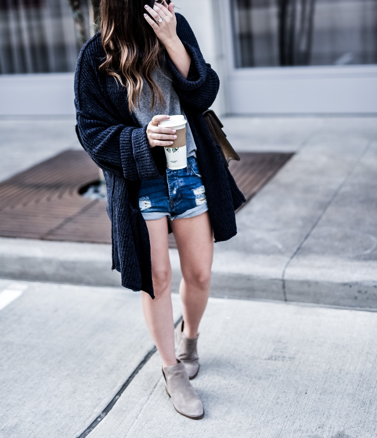 I love wearing cardigans with shorts, and this free people one happens to be on sale, click for product details! | Casual outfit ideas, Free People cardigan, One teaspoon shorts, Gucci Dionysus bag